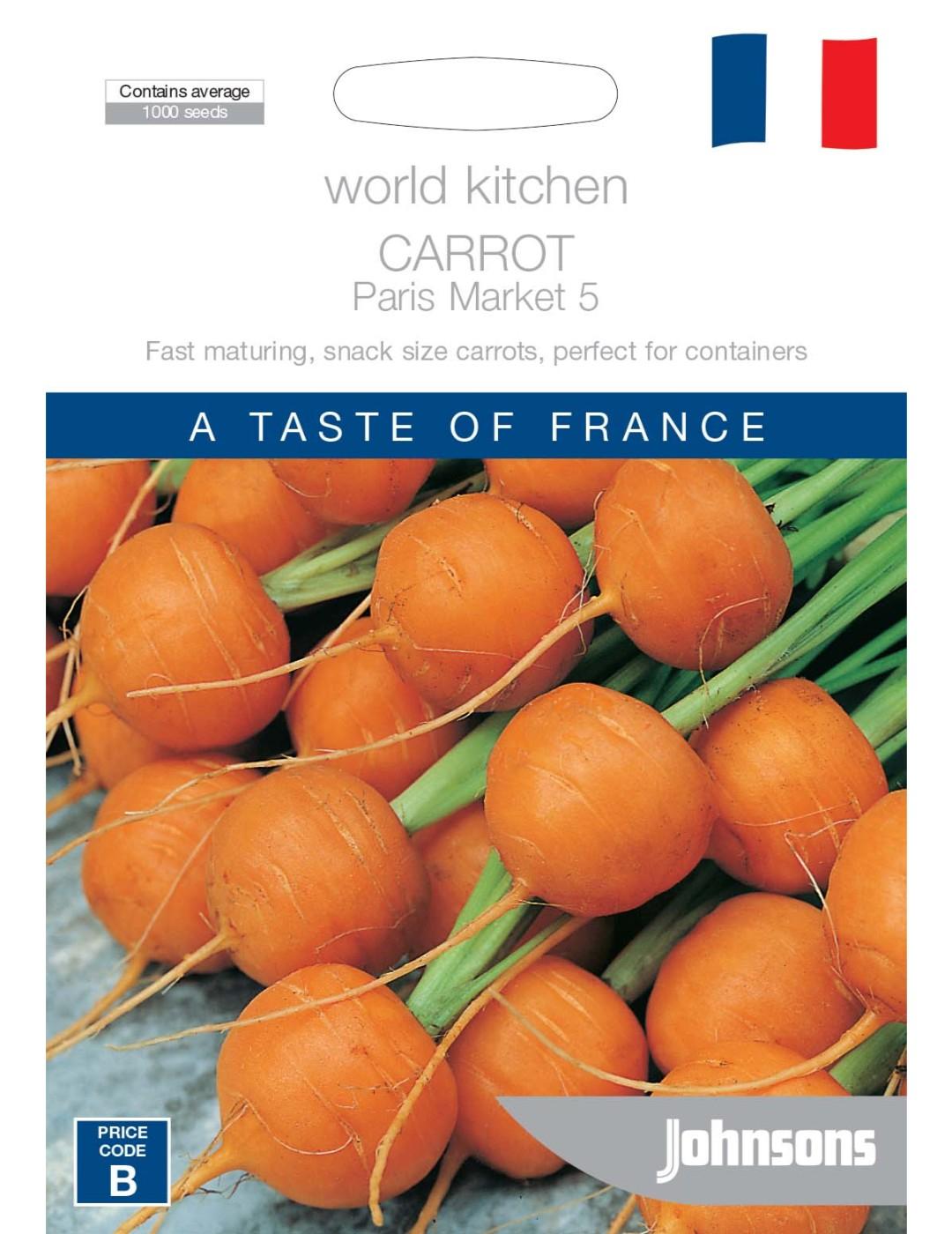 Kids Vegetable Carrot Paris Market Round Seeds