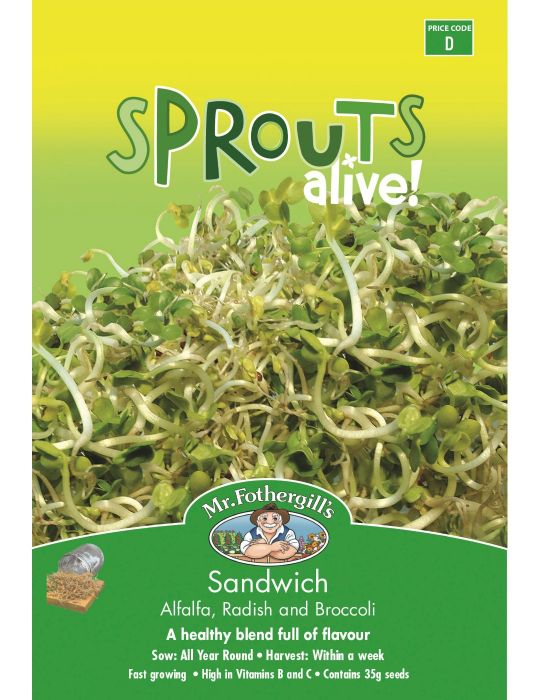 Sprouts Alive Sandwich Mix - NOT AVAILABLE TO WA