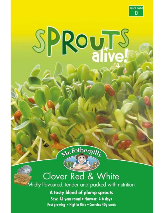 Sprouts Alive Clover Red & White