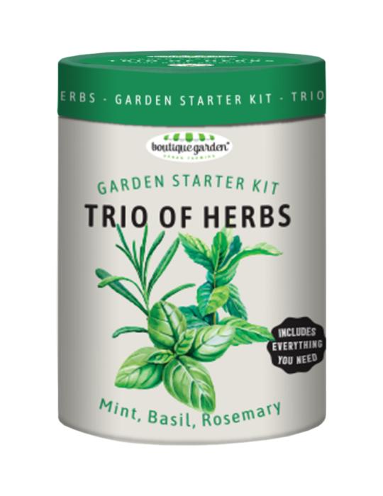 Trio of Herbs Garden Starter Kit