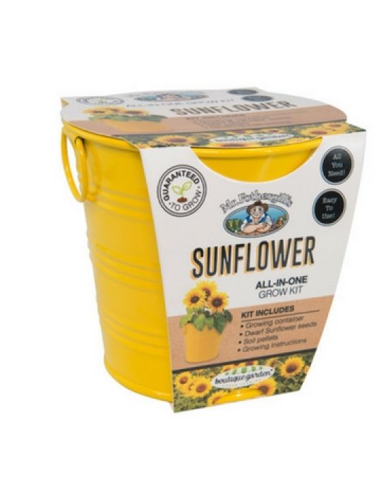 Sunflower - Round Grow Kit Tin