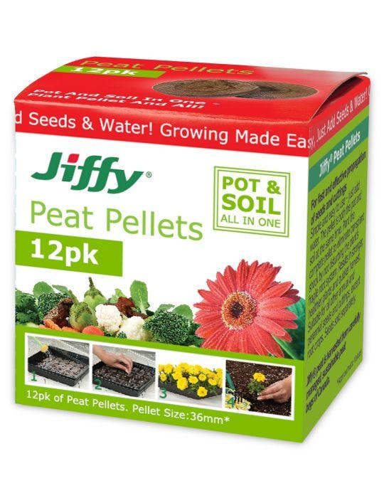 Jiffy 36mm Peat Pellets (box of 12)