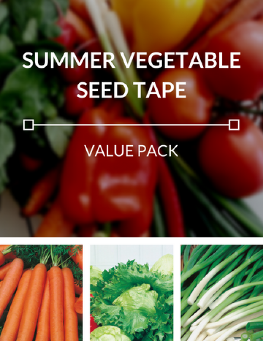 Summer Vegetables Seed Tapes Value Pack